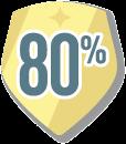 80% Badge